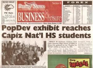 PopDev Exhibit - Capiz