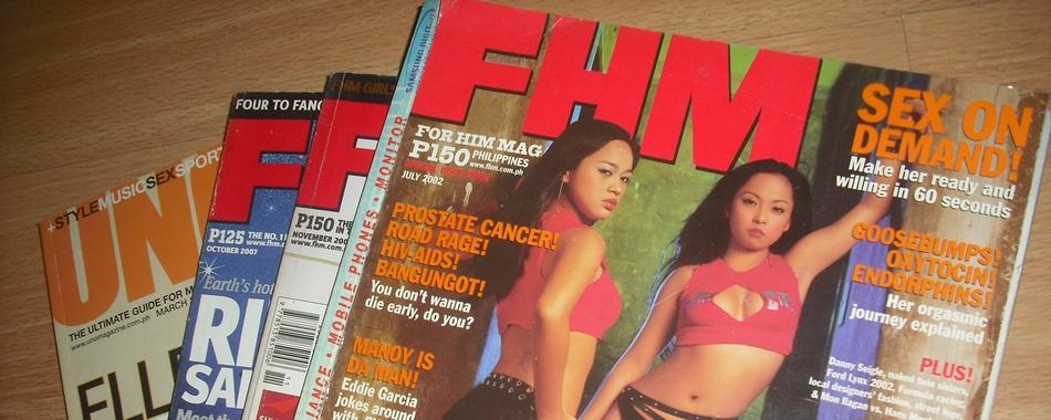 Isa sa mga pinagkukunan ng impormasyon tungkol sa sex ay mga men's magazines katulad ng FHM Philippines.
