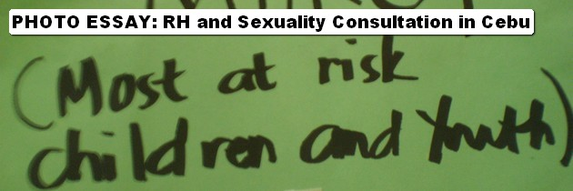 PHOTO ESSAY: RH and Sexuality Consultation in Cebu