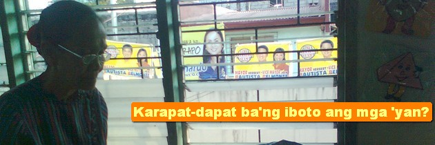Ang mga hindi karapat-dapat iboto!