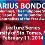 [VIDEO] Columnist Jarius Bondoc on Why Journalists Write (#JOYLectures at UST)