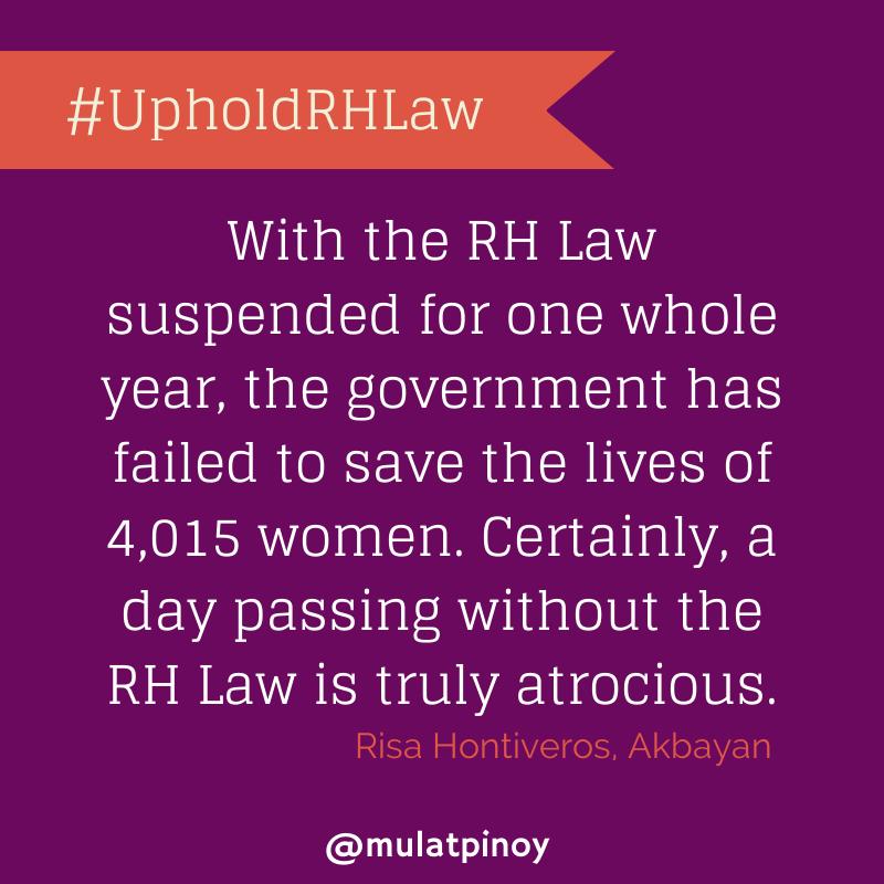 #UpholdRHLaw