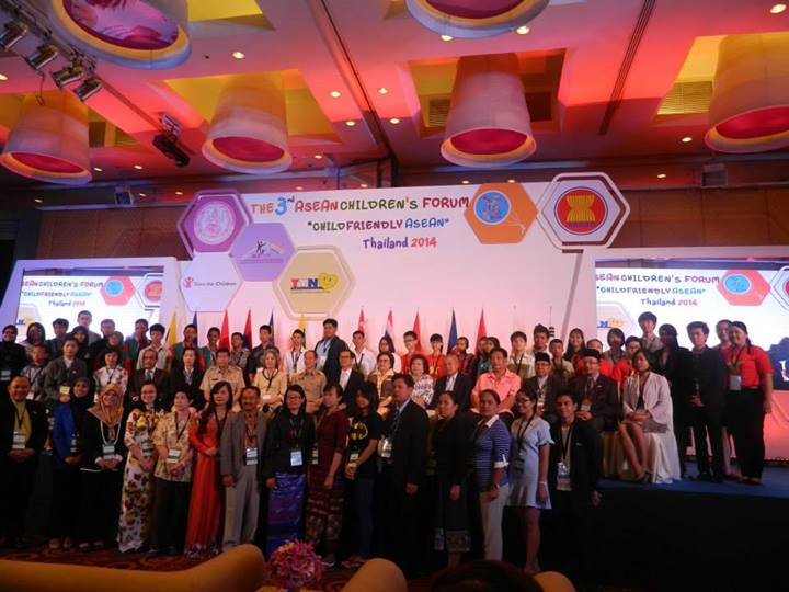 Children and Youth Delegates at the 3rd ASEAN Children's Forum in Pattaya City, Thailand on June 1-6, 2014 | Photo courtesy of the Council for the Welfare of Children (CWC)