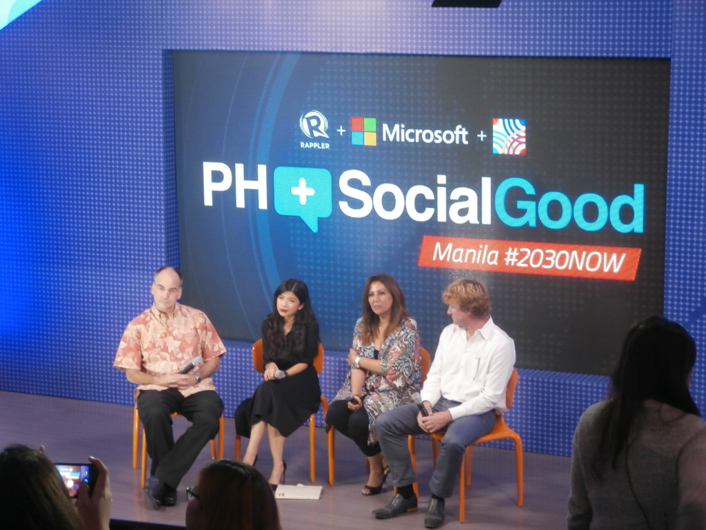 (L-R) Bill Dorman, Patricia Evangelista, Jason Enia, and Shahira Amin at the PH+SocialGood Summit 2014 held on September 17 at the Mind Museum, Taguig City | Photo by Jenny Ortiz