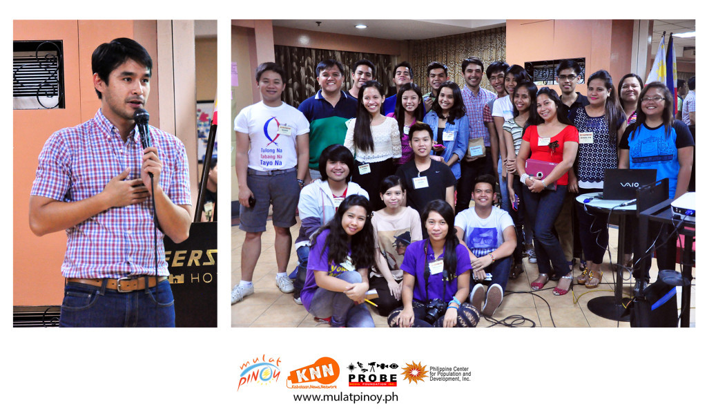 Former KNN host and reporter Atom Araullo delivers an inspirational message to the new batch of MP-KNN youth reporters. | Photos by Rocel Ann G. Junio