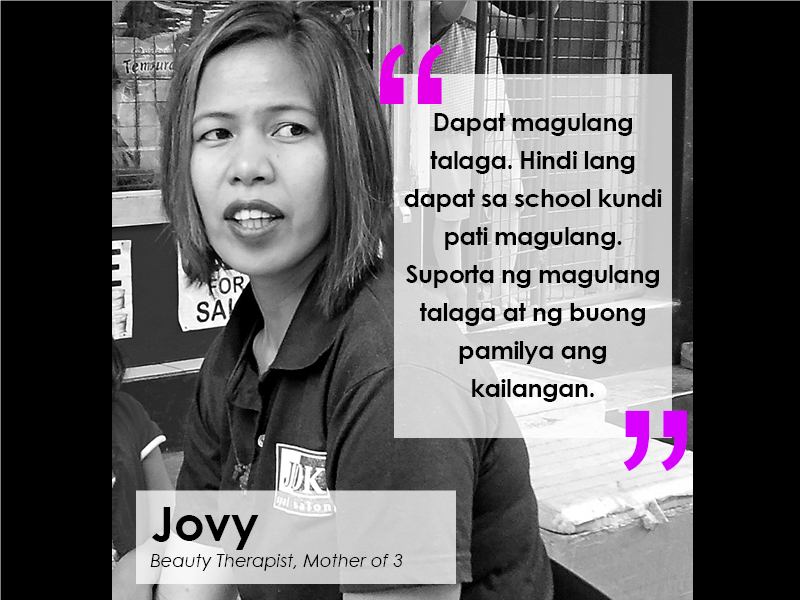 Jovy is one of several residents in a neighborhood in Quezon City who believed that parents must also teach sex education to their children. | Photo essay by Nicko de Guzman and Patrisha Torres