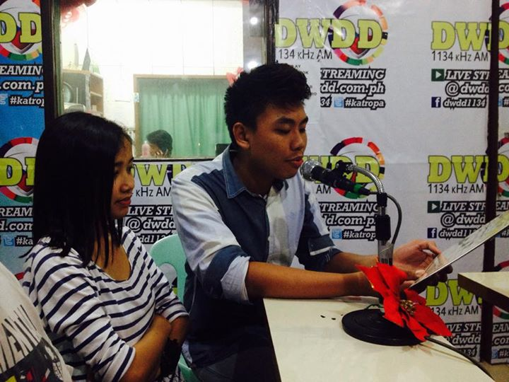 Eunice and Dom, hosts of Kabataan On Air