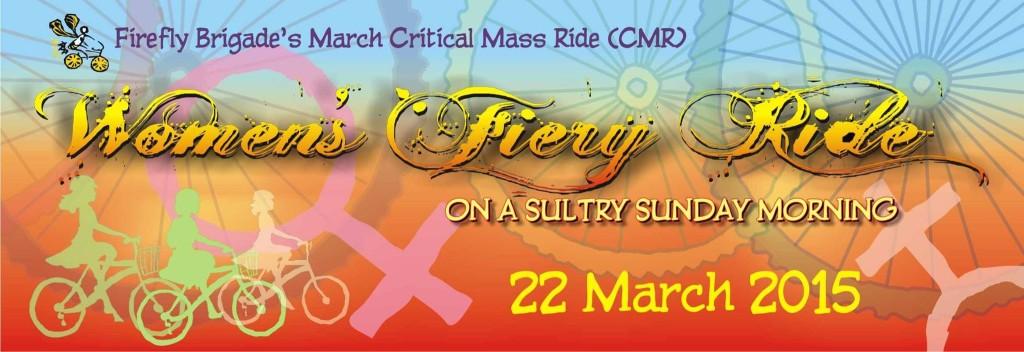 Firefly Brigade's Women's Fiery Ride on 22 March 2015