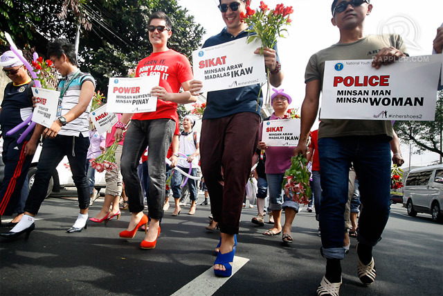 "NYC Commissioner Dingdong Dantes leads Manila leg of ""In Her Shoes"" initiative (Photo via Rappler)"