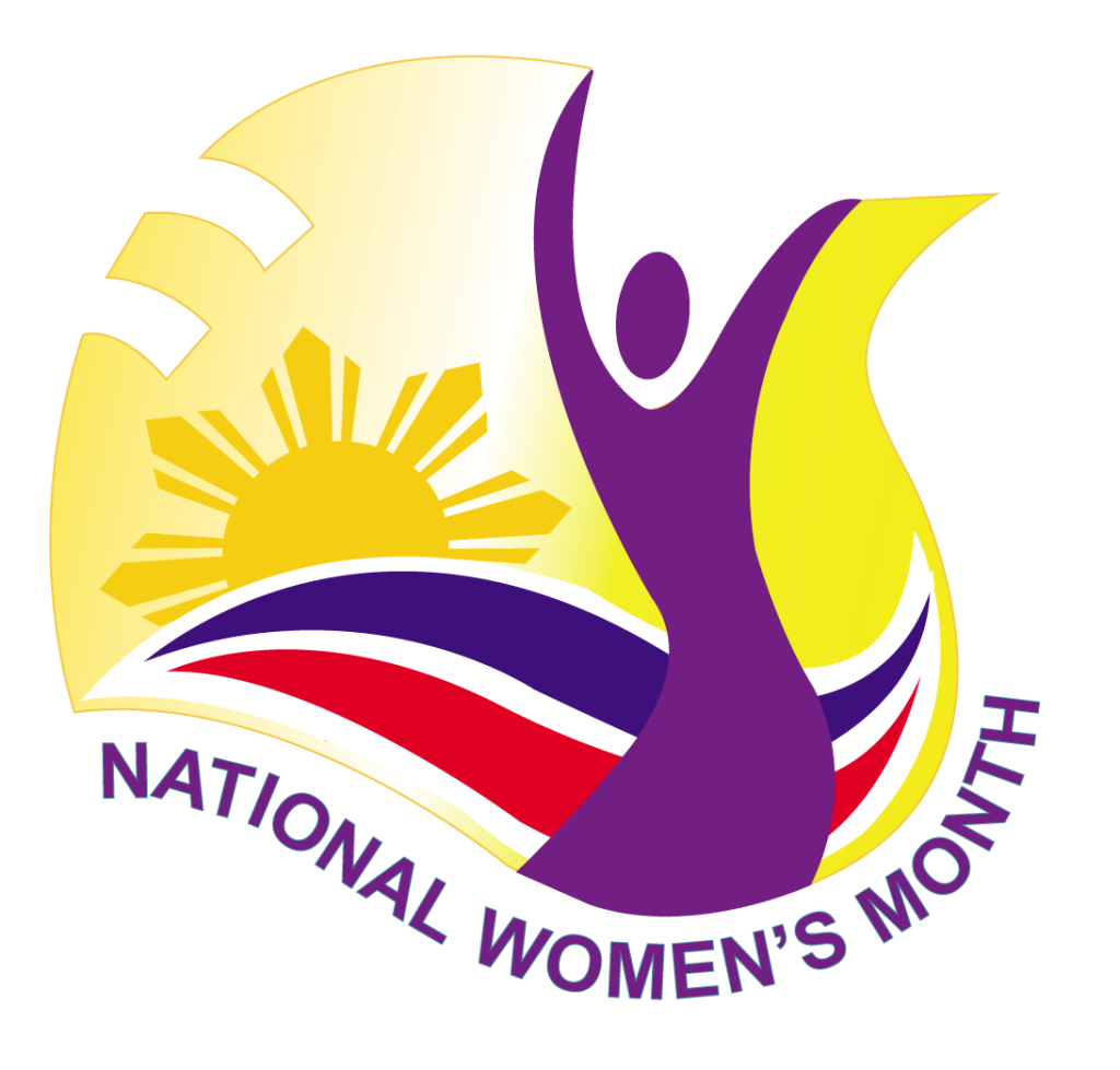 National Women's Month logo in the Philippines (Photo via the Philippines Commission on Women)