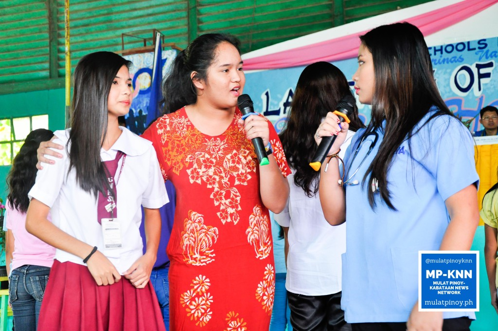 Selected students present a short play about characters dealing with teenage pregnancy | Photo by EM Mendoza/MP-KNN