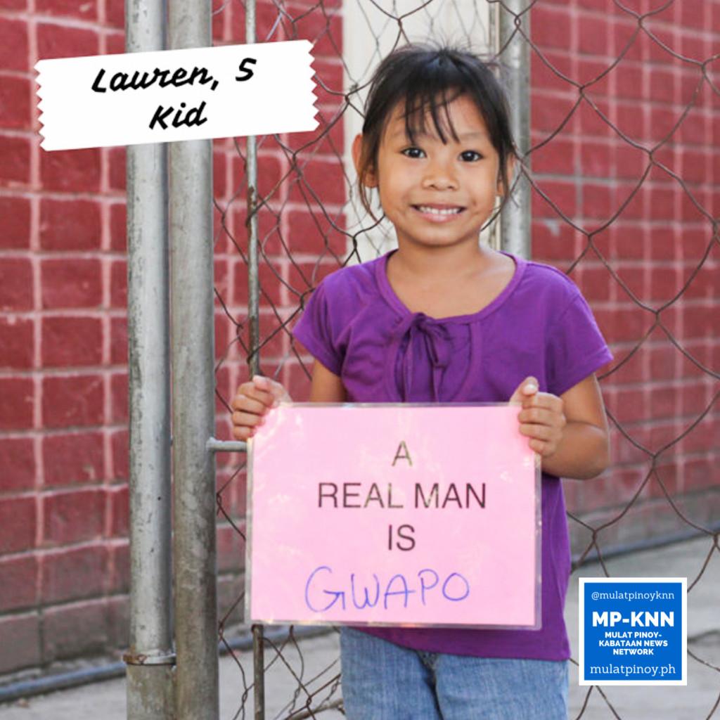 """A real man is gwapo."" | Photo by Mac Florendo and Mariana Varela"