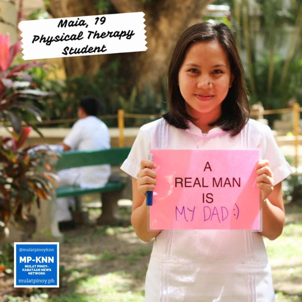 """A real man is my dad."" 