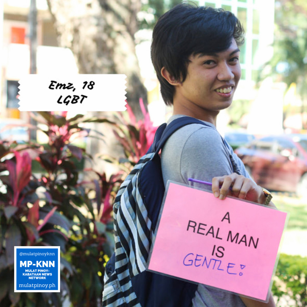 """A real man is gentle."" 
