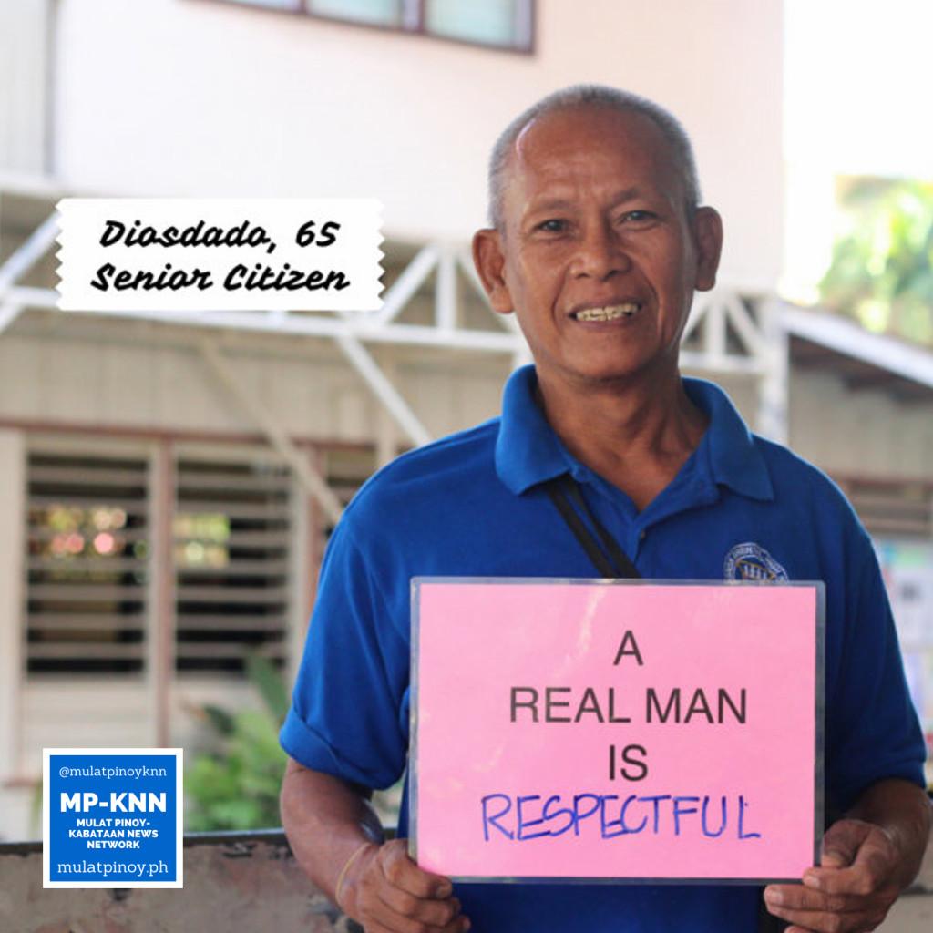 """A real man is respectful."" | Photo by Mac Florendo and Mariana Varela"