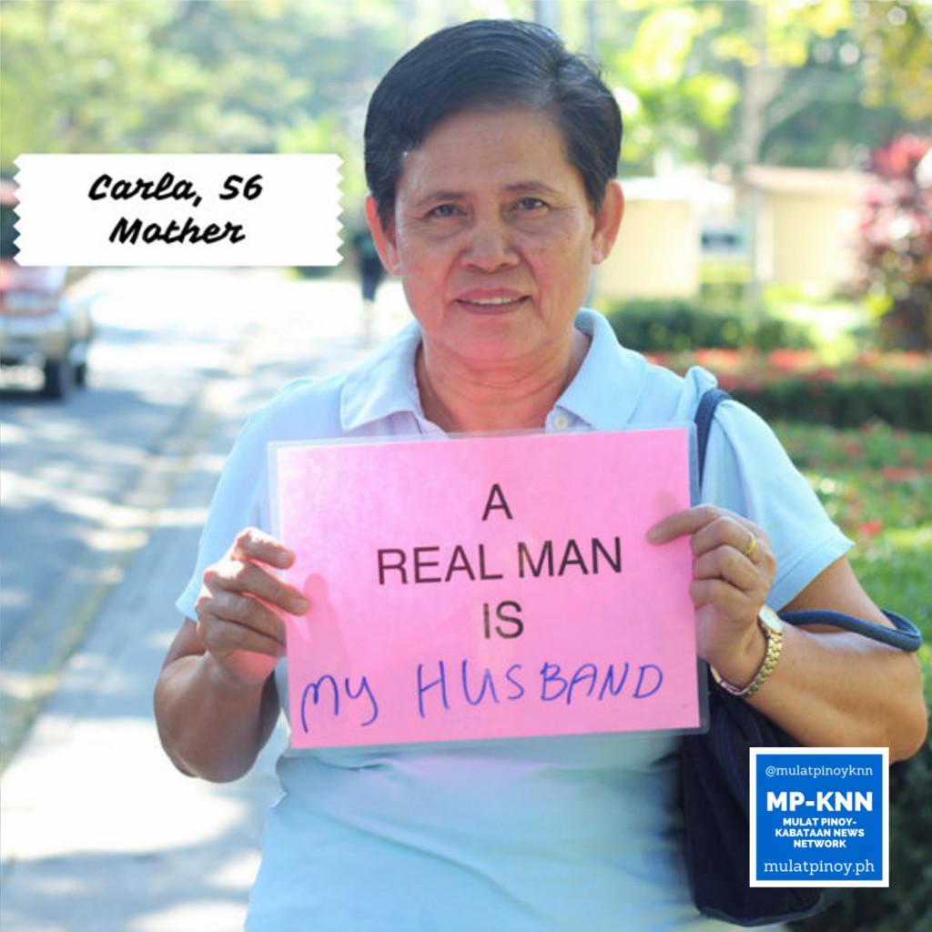 """A real man is my husband."" | Photo by Mac Florendo and Mariana Varela"