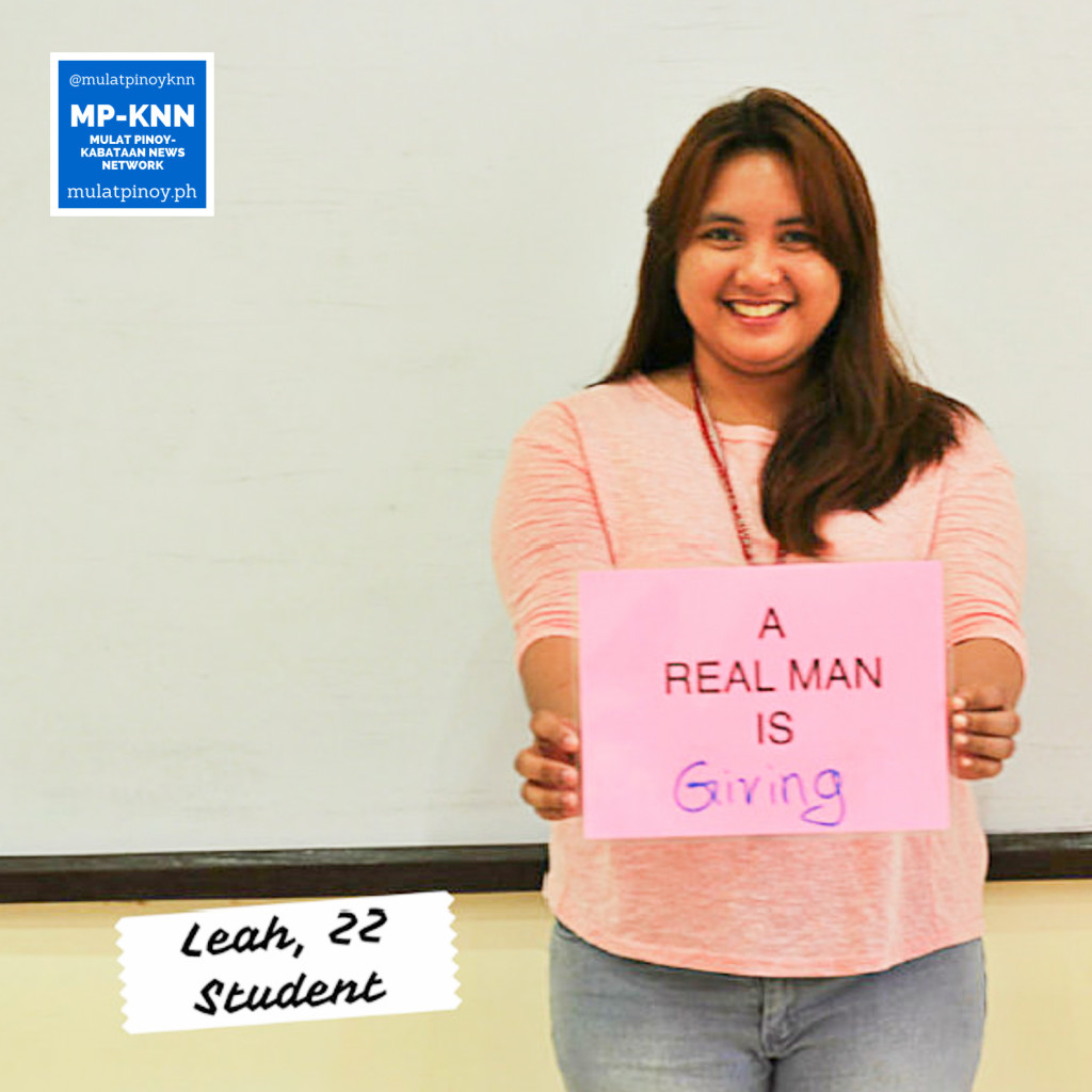 """A real man is giving."" 