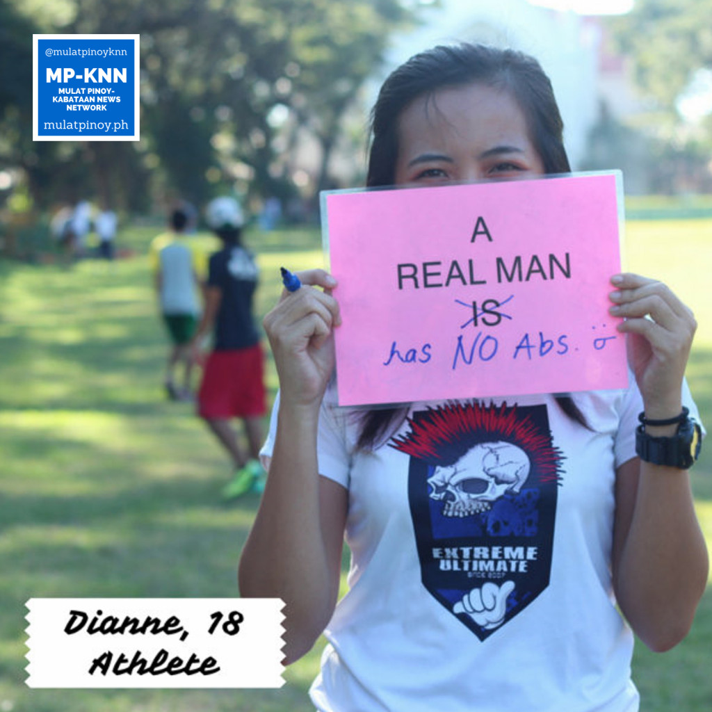 """A real man has no abs."" | Photo by Mac Florendo and Mariana Varela"