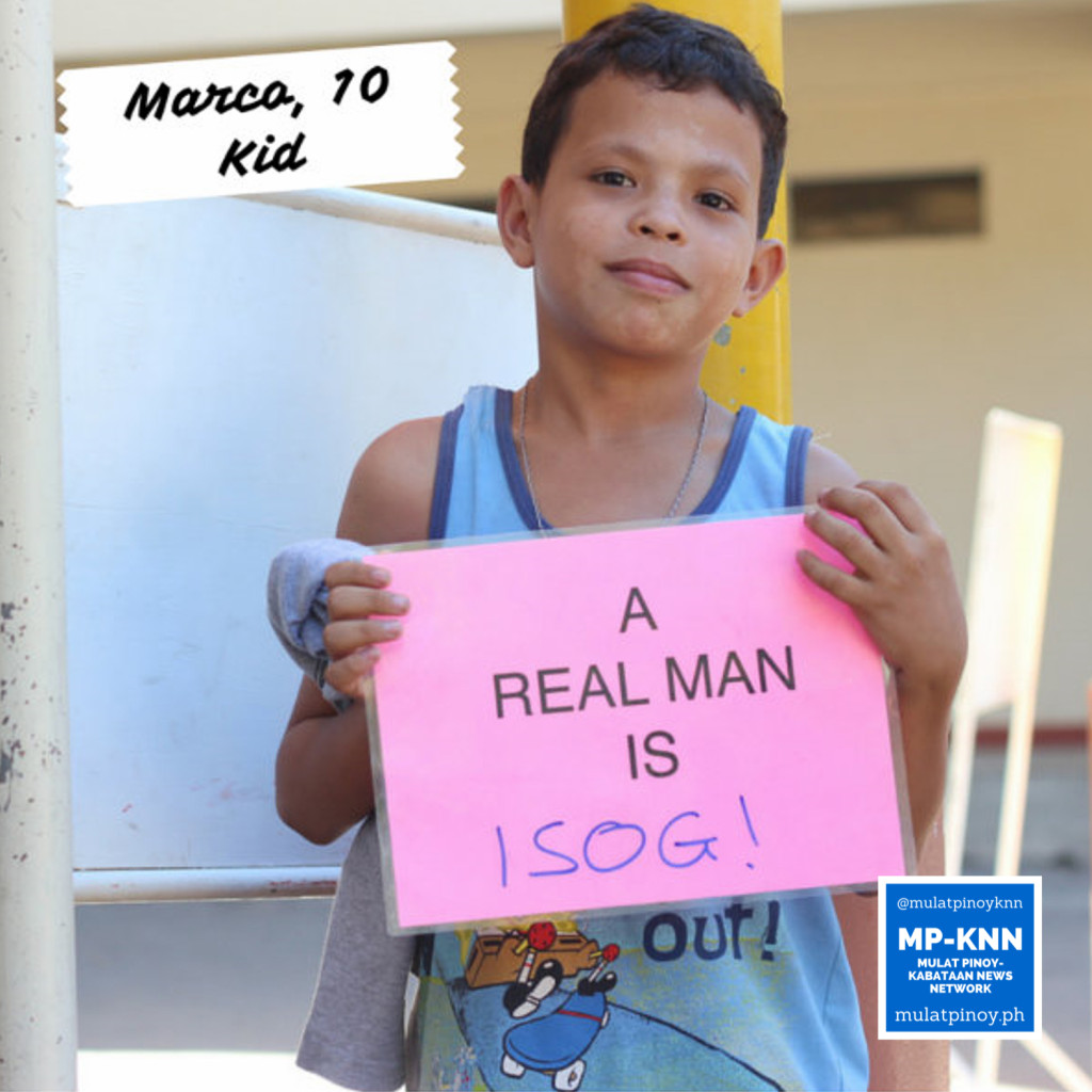 """A real man is isog (tough)."" | Photo by Mac Florendo and Mariana Varela"