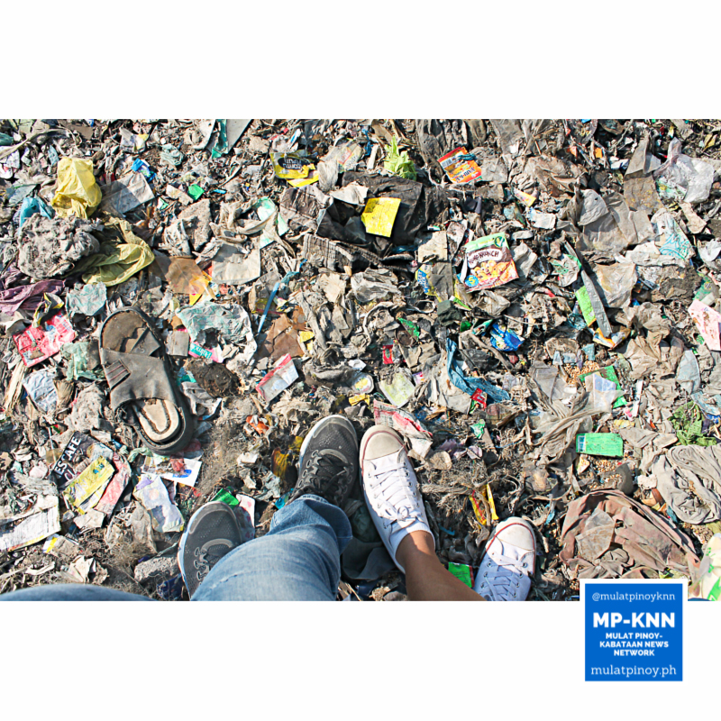 Our feet on the reclaimed area filled with dumped refuse. | Photo by Quennie Maria Guibao/MP-KNN