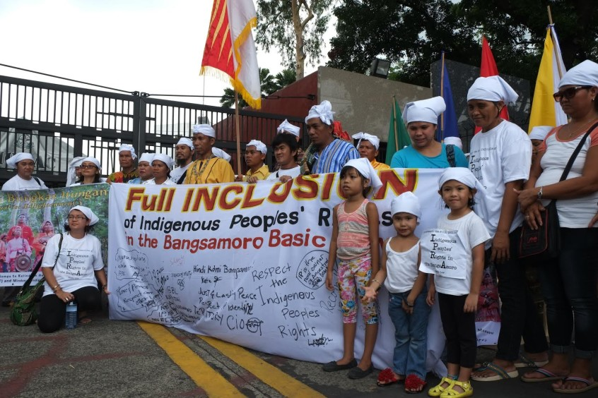 Groups express solidarity to the cause of the Non-Moro indigenous peoples for full inclusion of their rights in the BBL at a ritual-action in front of the House of Representatives in Quezon City. (10 May 2015) | Photo by Joseph Purugganan