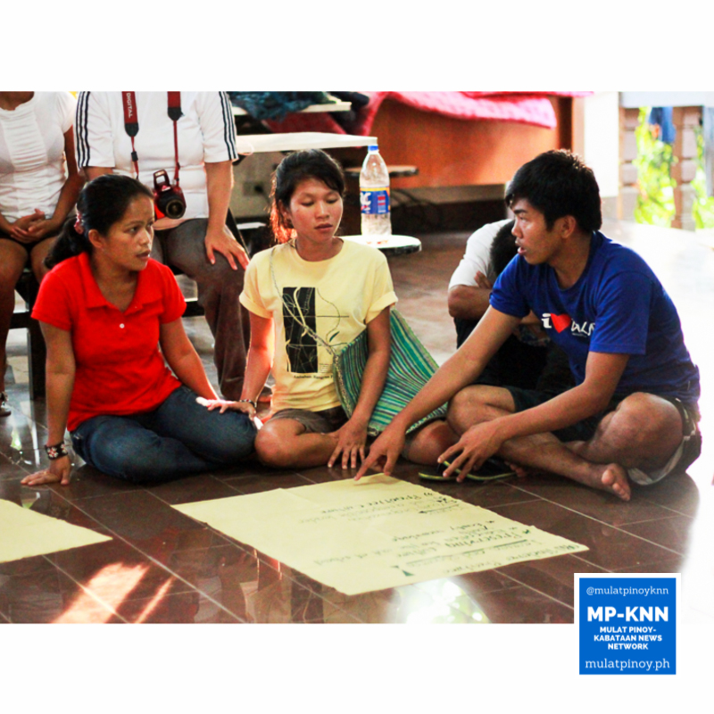 The Mangyan group presenting the issues they face back in their community in Mindoro. | Photo by Meeko Angela Camba / MP-KNN