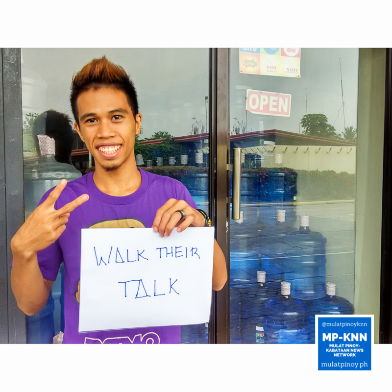 """""""Walk their talk: Leaders should always transcend their words into actions."""" 