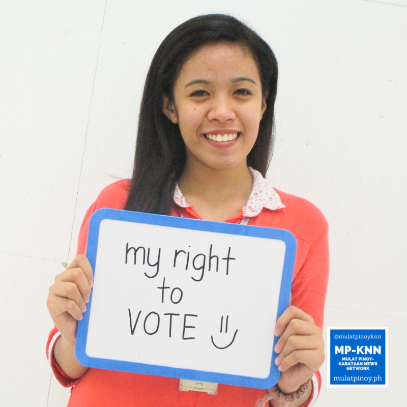 """""""My right to vote motivated me to register."""" - Karen Ibañez 