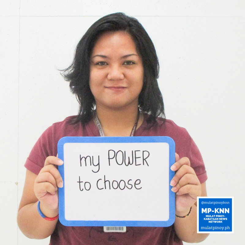 """My power to choose, that's what motivated me to register as a voter."" – Rubbie Lynne Gonzales 