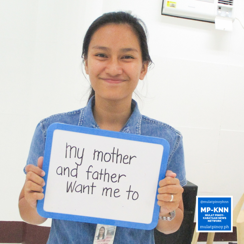 """""""My mother and father motivated me to register."""" – Joferlyn Sango 