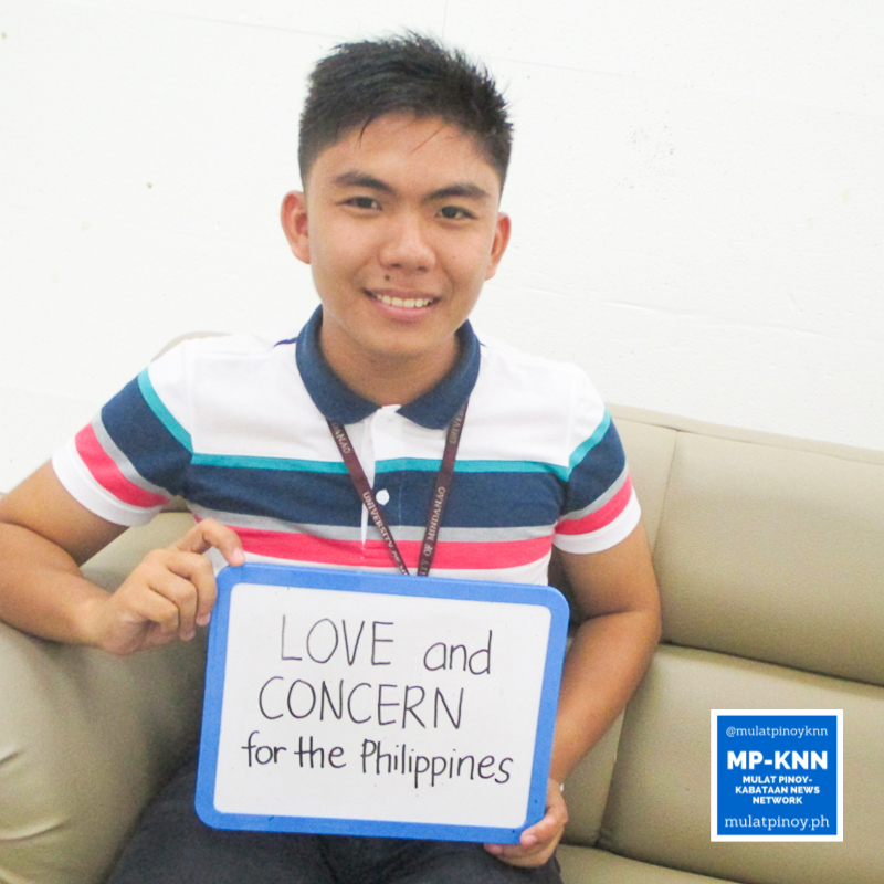 """I love my country. So my love and concern for it became my motivation to register as a voter."" – John Mark Bautista 