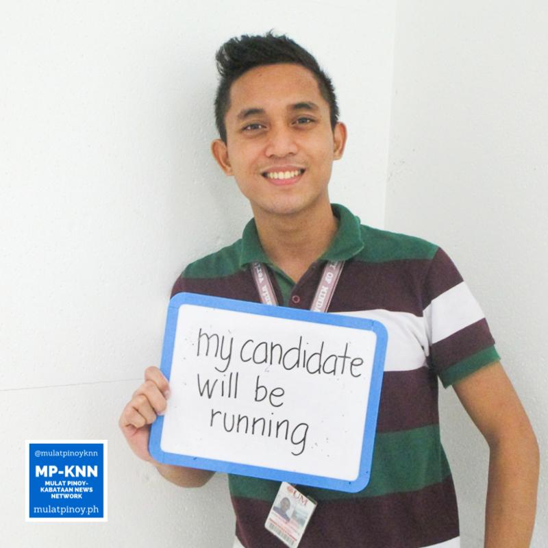 """I have a feeling that Mayor Rodrigo Duterte will run for the presidency this 2016 elections. That feeling motivated me to register."" – John Ralph Coronado | Photo by Alice Ultra/MP-KNN"