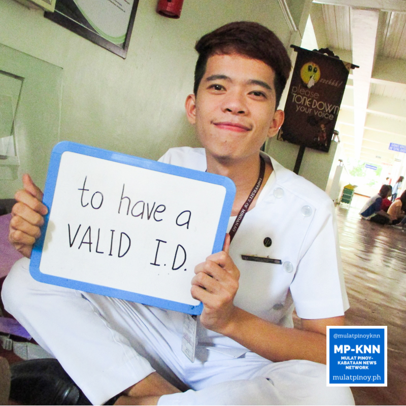 """Honestly, I just want to have a valid national ID. That's what motivated me to register."" – Jhon Dale Pardillo 