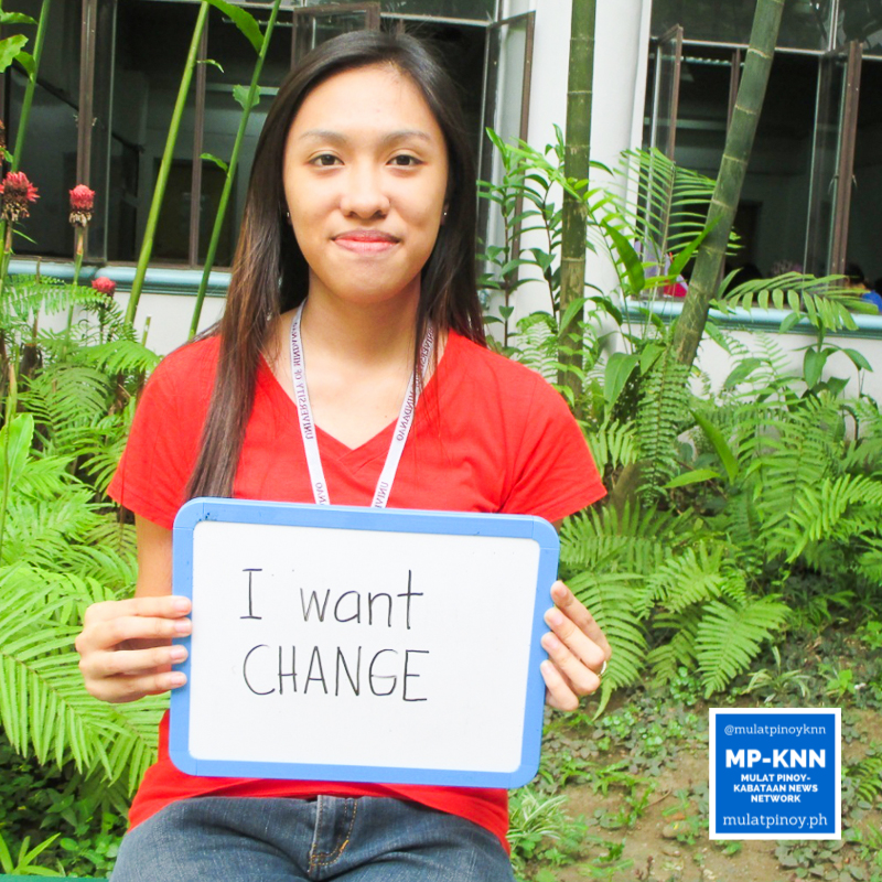 """""""I still hope for change. That want prompted me to register as a voter."""" – Shaira Plaza 