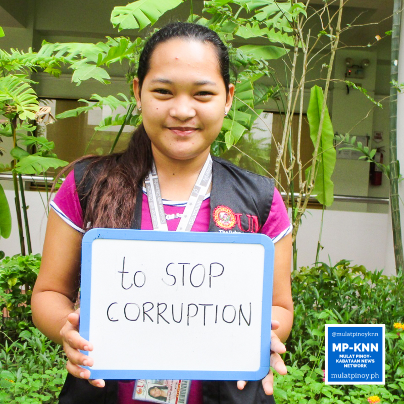 """Corruption is a mainstream problem in this country. My hope that it will still be stopped eventually inspired me to register as a voter."" – Christine Jane Roldan 