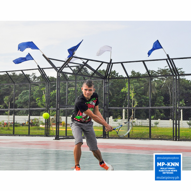 Now, Kiwi is enrolled in the Alternative Learning System program, pursuing his goal to finish his studies. He also helps his mother with their business, and then plays during weekends with his teammates in Tagum City Lawn Tennis Club. | Photo by Charlene Luna/MP-KNN
