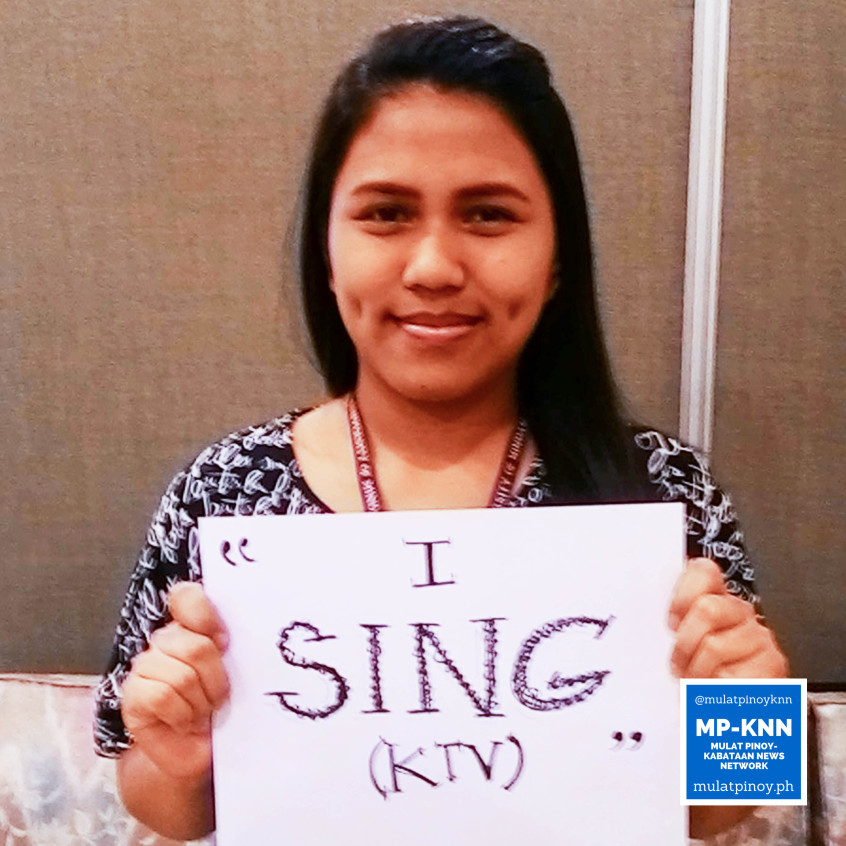 "Ways to be a stress-free working student: ""I sing (KTV)."" 