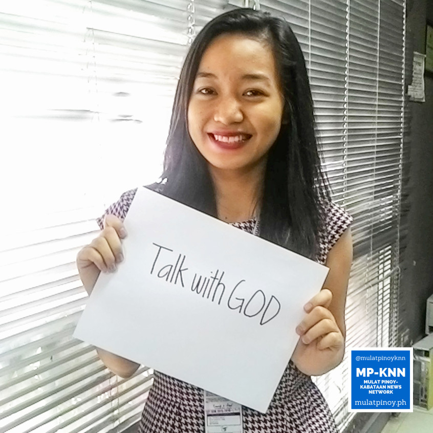 "Ways to be a stress-free working student: ""Talk with God."" 
